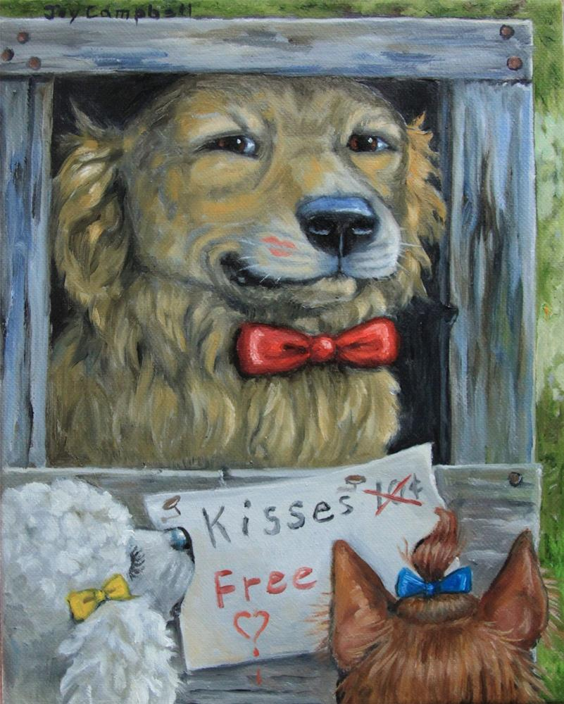"""The Kissing Booth"" original fine art by Joy Campbell"