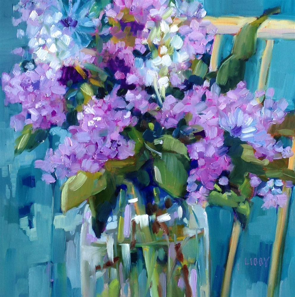 """Backyard Beauty"" original fine art by Libby Anderson"