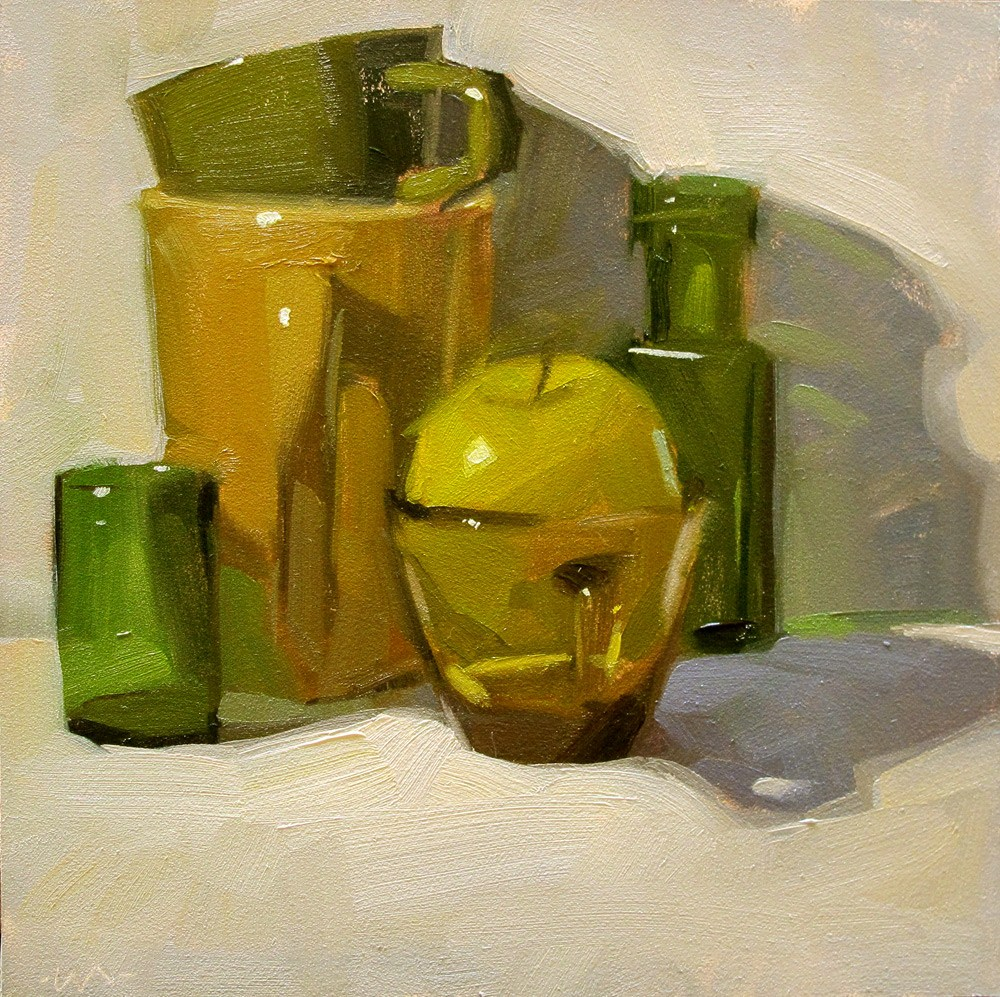 """For the Love of Green"" original fine art by Carol Marine"