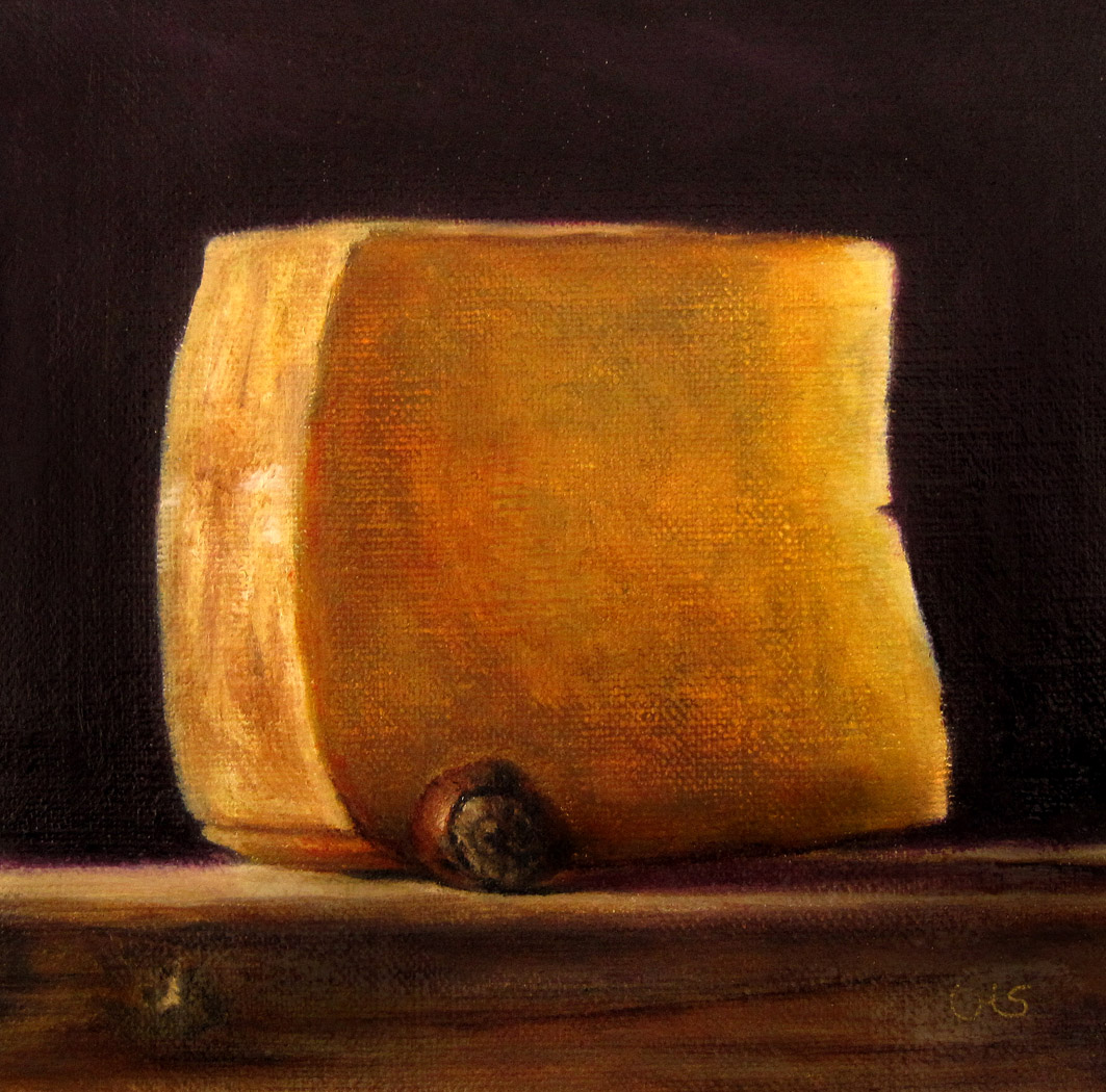 """Cheese with Hazelnut"" original fine art by Ulrike Miesen-Schuermann"