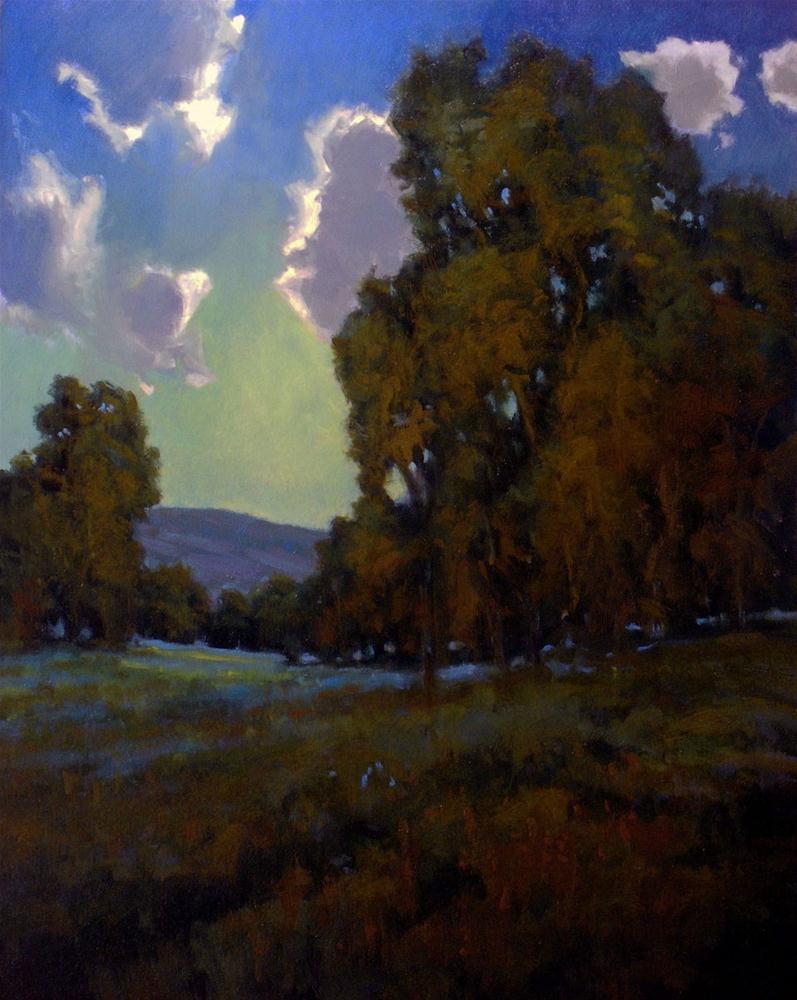 """Moonlit Meadow"" original fine art by David Forks"