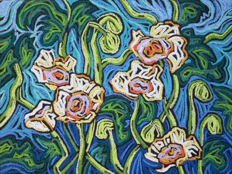"""Poppys on Parade"" original fine art by Monique Straub"