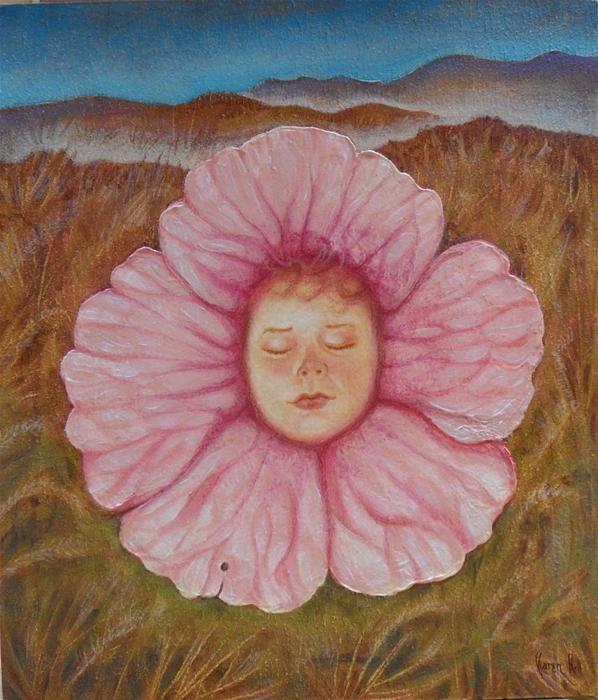 """Earth Child"" original fine art by Karen Roncari"