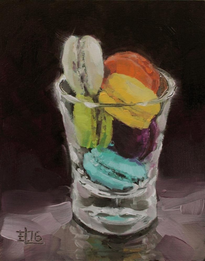"""Macarons In a Glass"" original fine art by Emilia Leinonen"