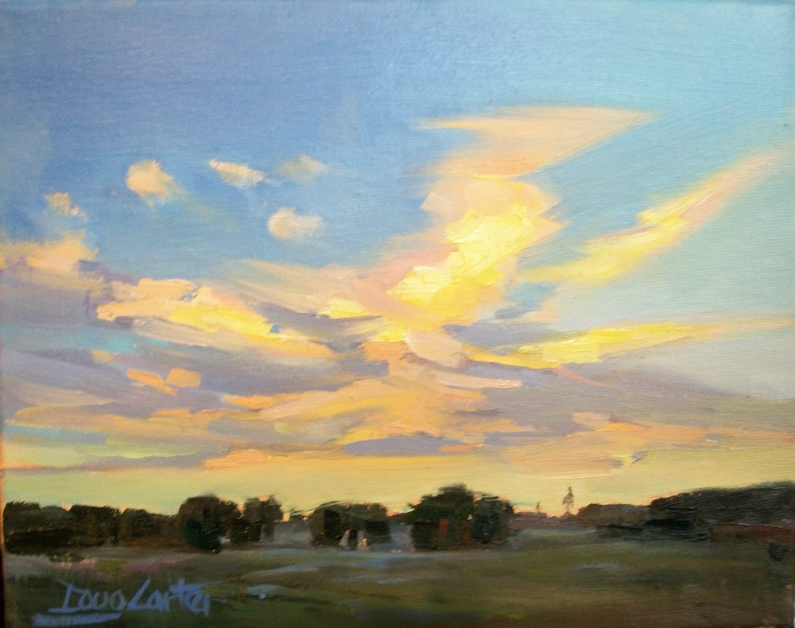 """ GODS PAINTBRUSH "" original fine art by Doug Carter"