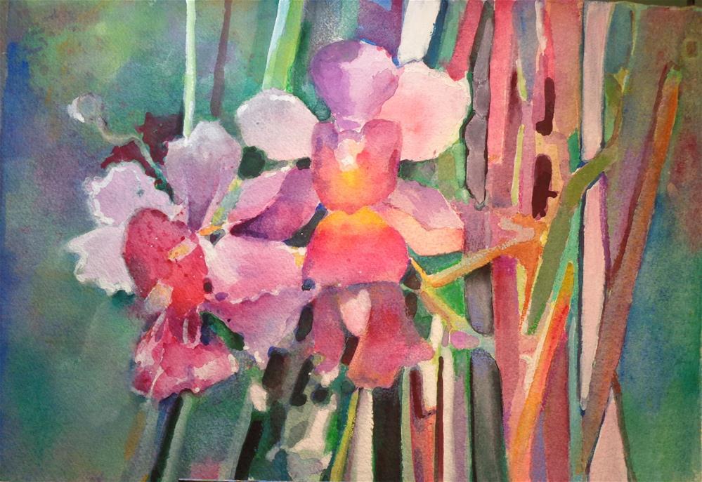 """orchids"" original fine art by meribeth coyne"
