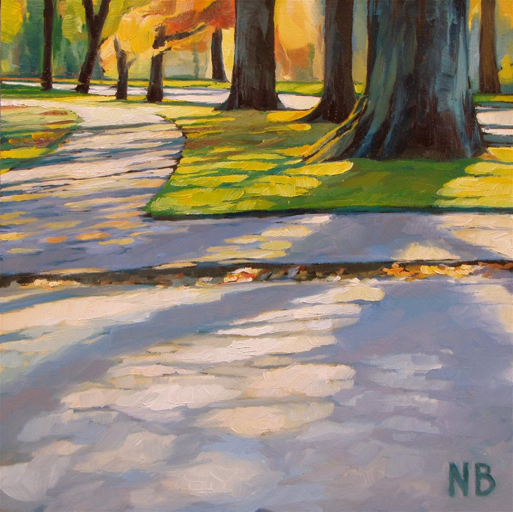 """Through the Park"" original fine art by Nora Bergman"
