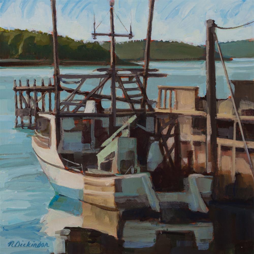 """Fisherman's Pride"" original fine art by Nat Dickinson"