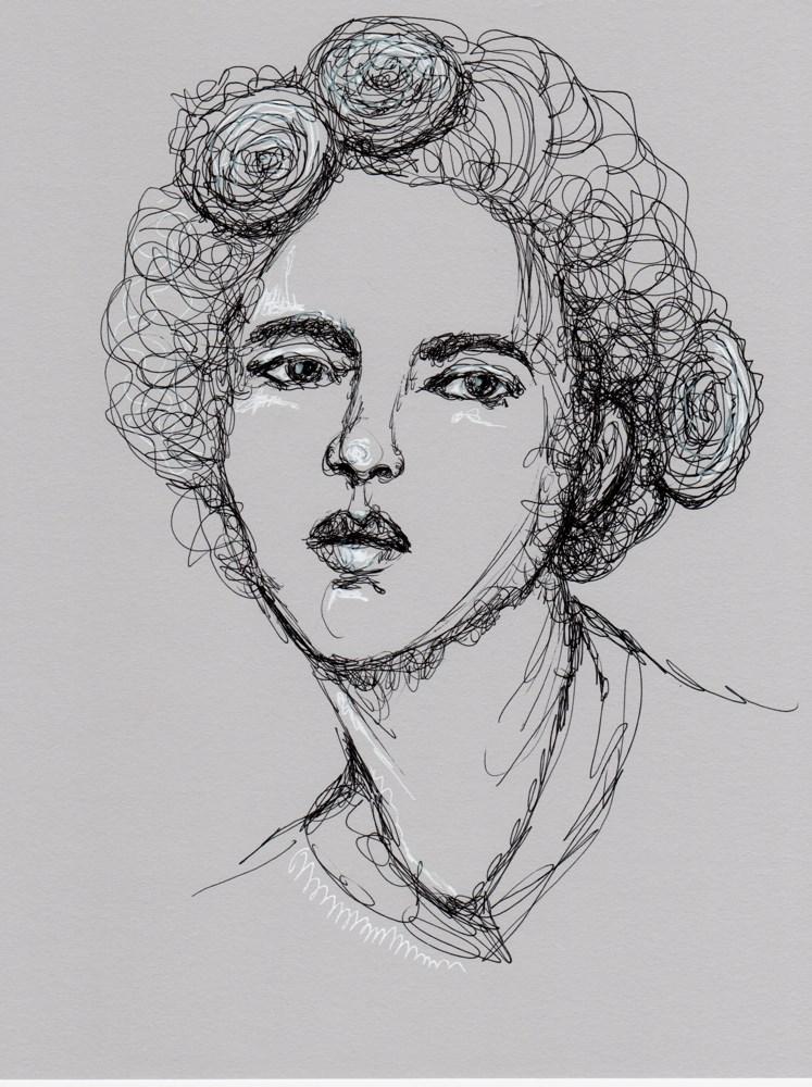 """""""Portrait of Heidi"""" original fine art by Roberta Schmidt"""