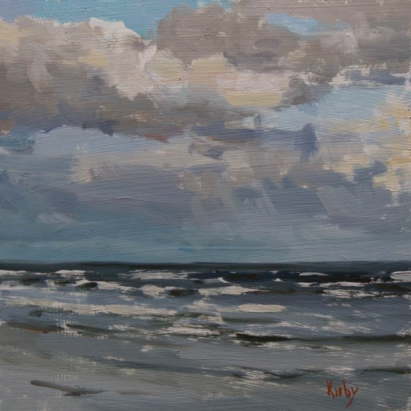 """Clouds over Sea"" original fine art by Randall Cogburn"