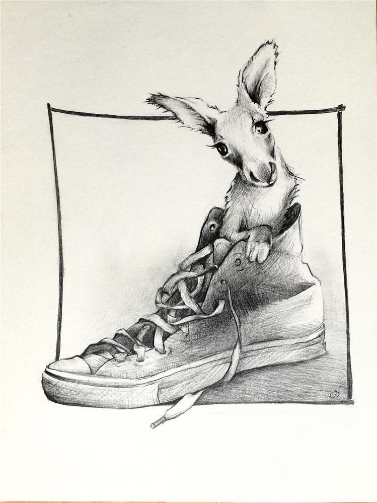 """Kangaroo Shoe"" original fine art by Claudia Selene"