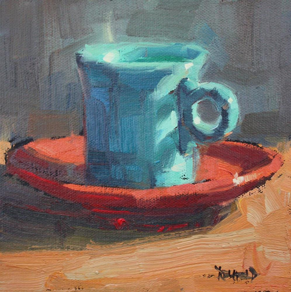 """Teatime"" original fine art by Cathleen Rehfeld"