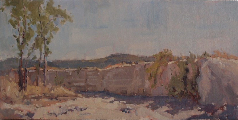 """Desert Creek Bed, Big Bend"" original fine art by Julie Davis"