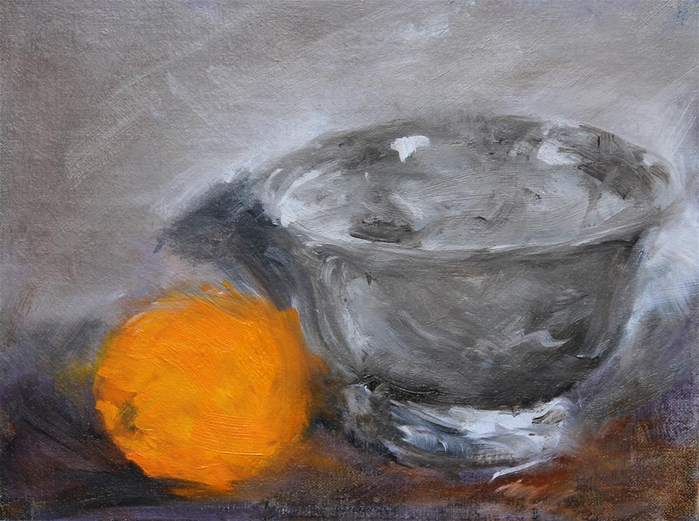 """Silver Bowl"" original fine art by Karen Solorzano"