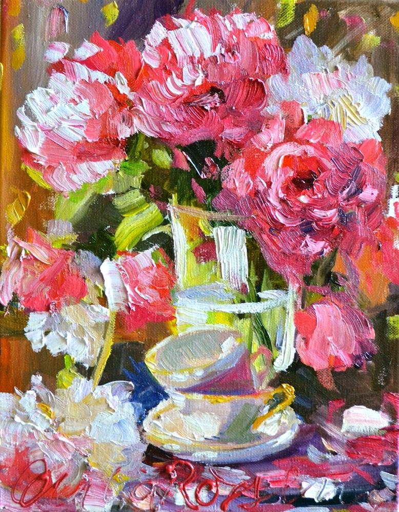 """ROSE VASE"" original fine art by Cecilia Rosslee"