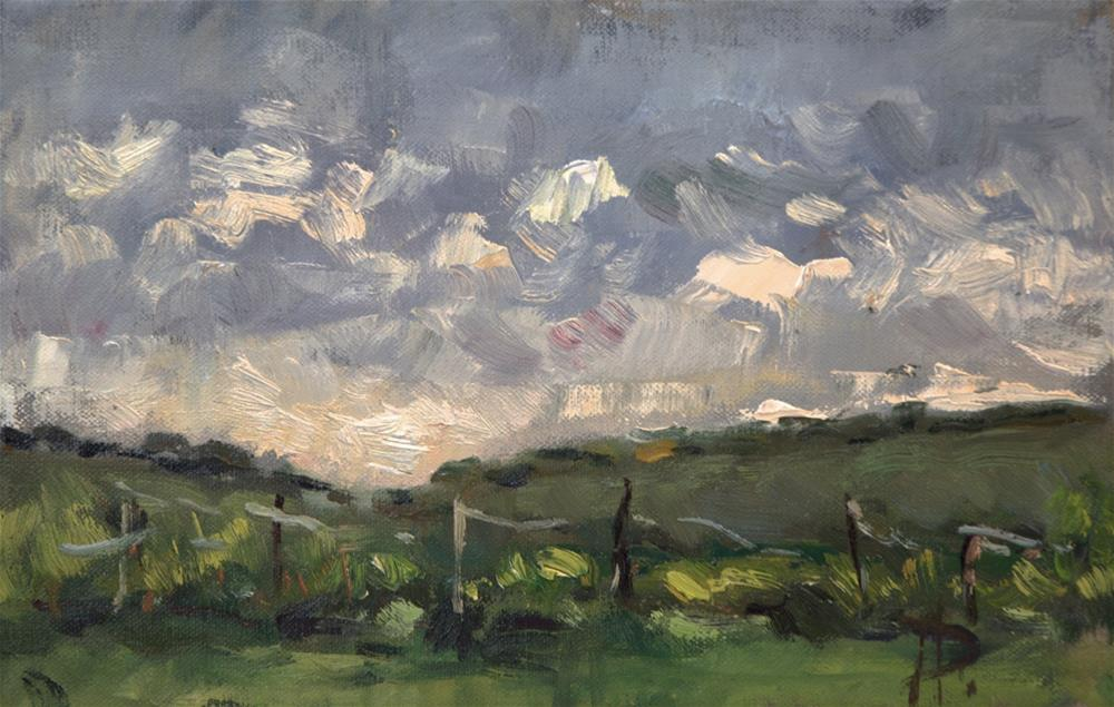 """Field at North Stoke"" original fine art by Andre Pallat"