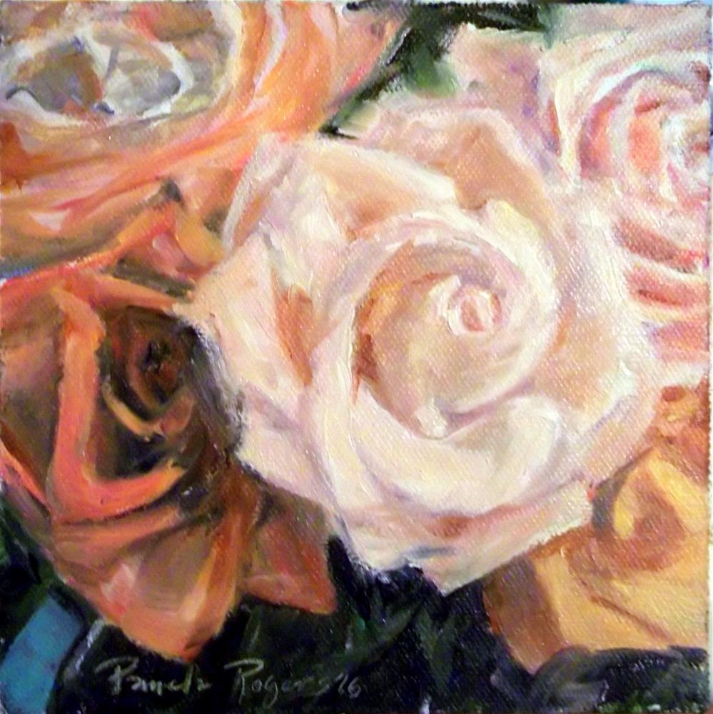 """Gentle Pinks"" original fine art by Pamela Jane Rogers"