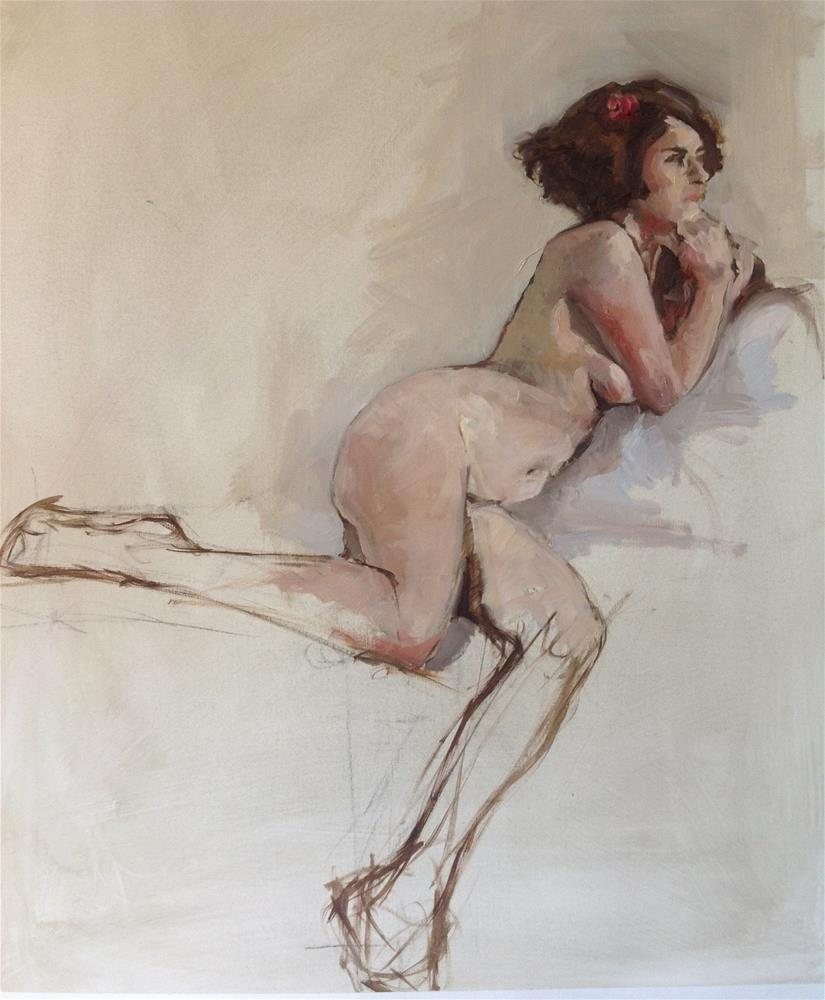 """nude"" original fine art by Christine Bayle"