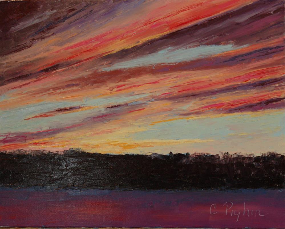 """Leaving Portland"" original fine art by Carol Pighin"