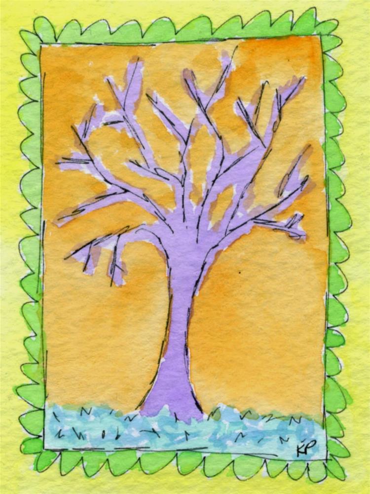 """""""Seeing Orange"""" original fine art by Kali Parsons"""