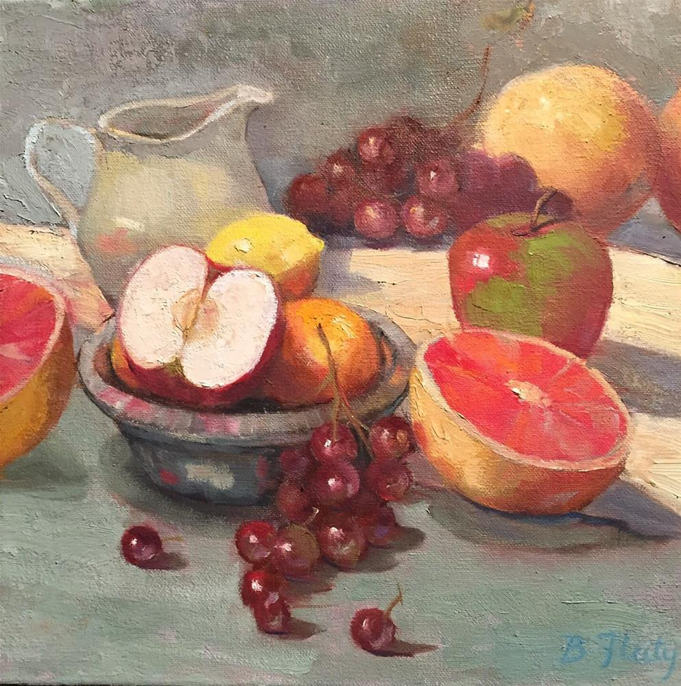 """Fruit Cocktail"" original fine art by Barbara Fluty"
