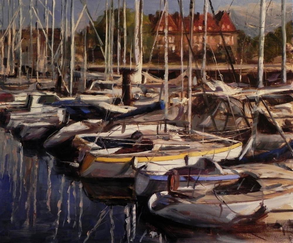 """Deauville Marina"" original fine art by Jonelle Summerfield"