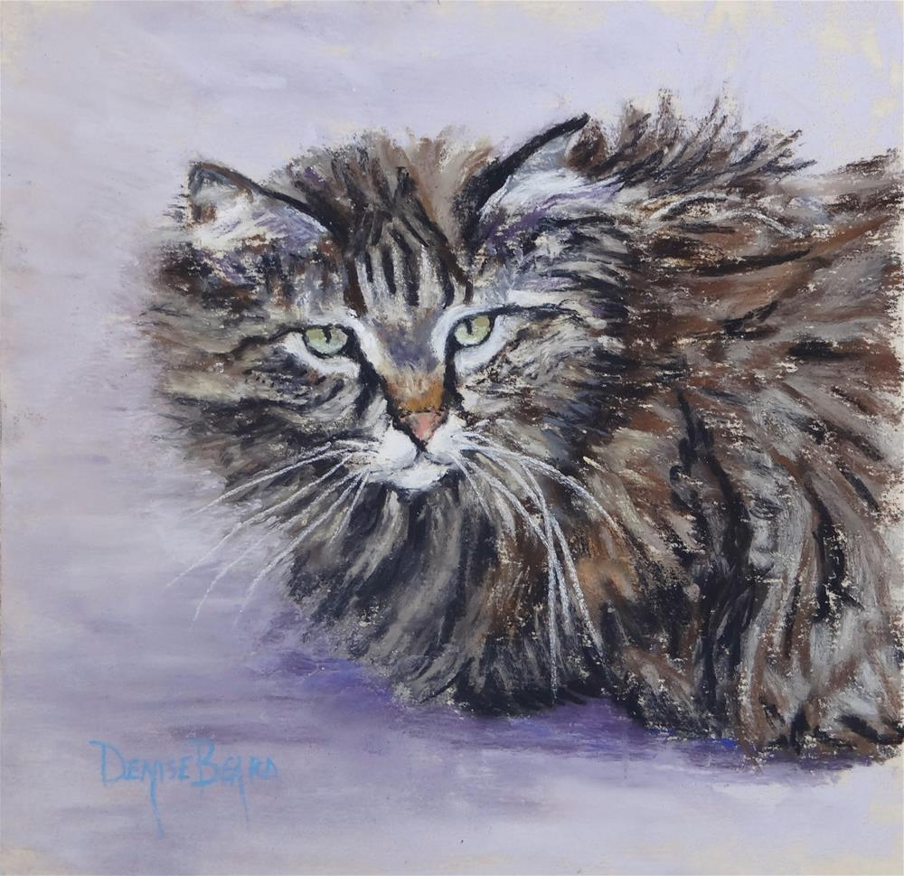 """Furry"" original fine art by Denise Beard"
