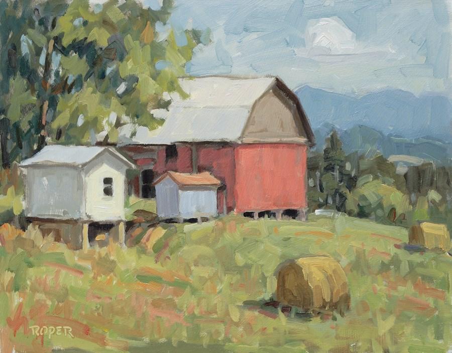 """DAY 13: Cedar Ridge Morning"" original fine art by Stuart Roper"