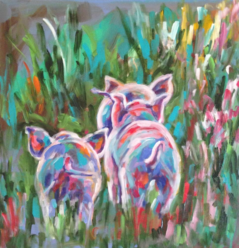 """Pigtails"" original fine art by Molly Wright"