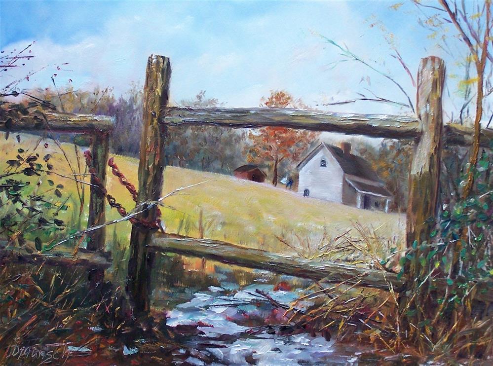 """""""Fenced Out"""" original fine art by Donna Munsch"""