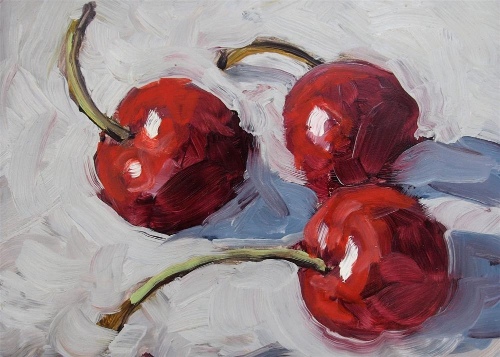 """Cherry"" original fine art by Rick Nilson"