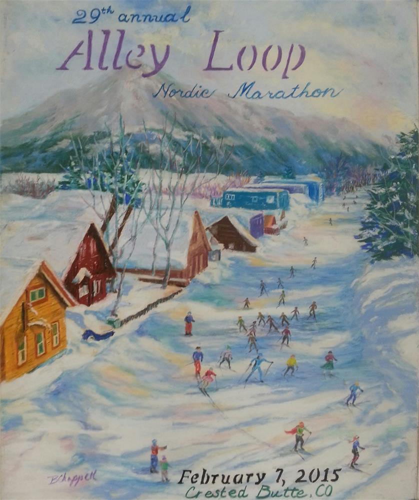 """Alley Loop Poster 2015"" original fine art by Becky Chappell"