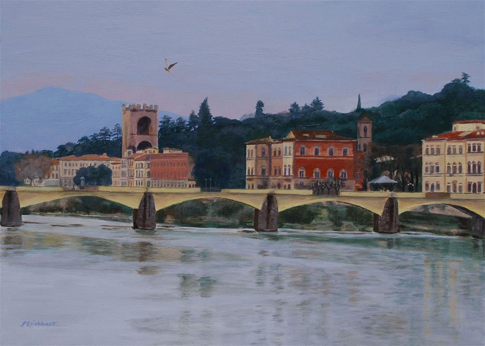 """""""Pont Vecchio Landscape"""" original fine art by Lynne Reichhart"""