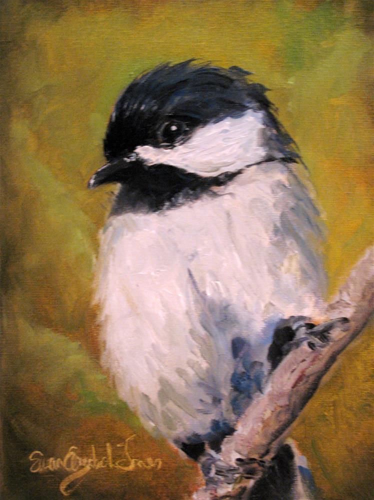 """Chickadee"" original fine art by Susan Elizabeth Jones"