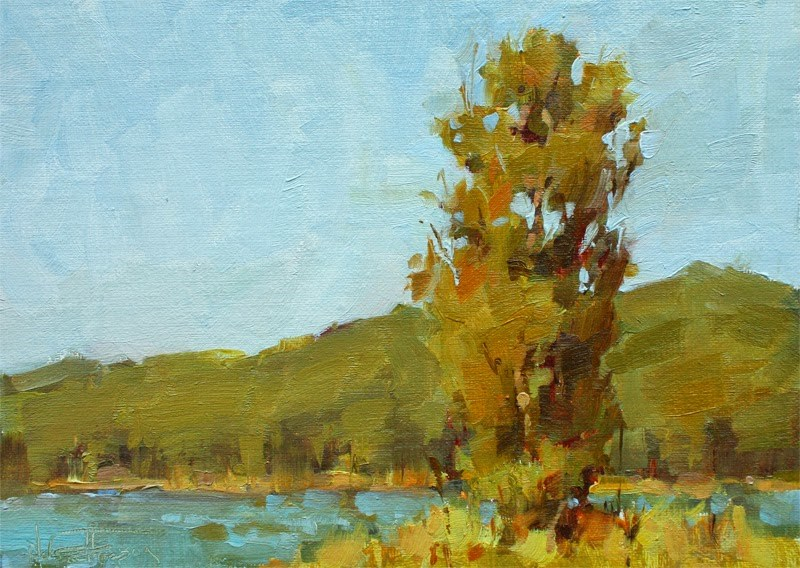 """Stand Up Tree"" original fine art by Melanie Thompson"