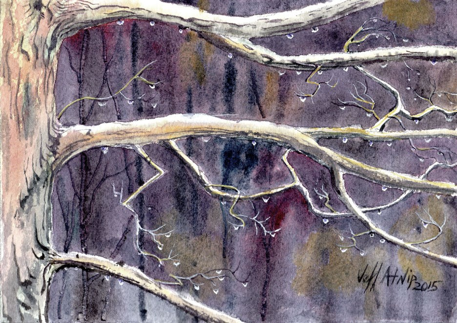 """Rainy Day"" original fine art by Jeff Atnip"