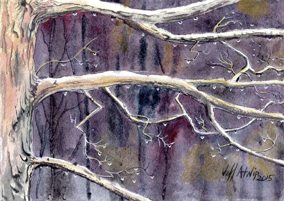 """""""Rainy Day"""" original fine art by Jeff Atnip"""