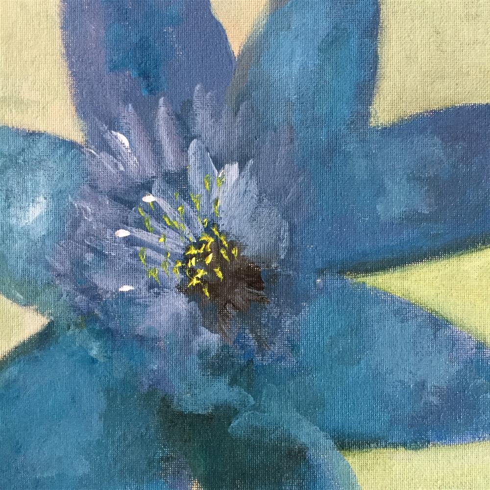 """Miss bluey"" original fine art by pamela kish"