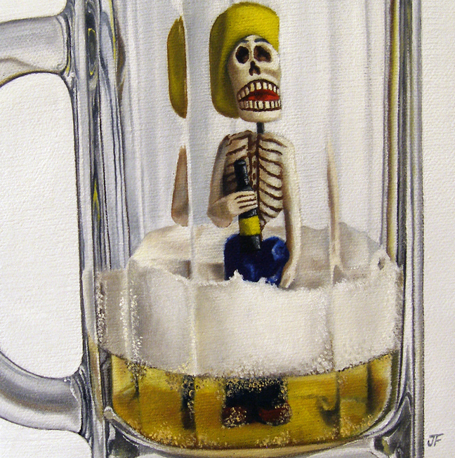 """Day of the (Dead) Drunk"" original fine art by Jelaine Faunce"