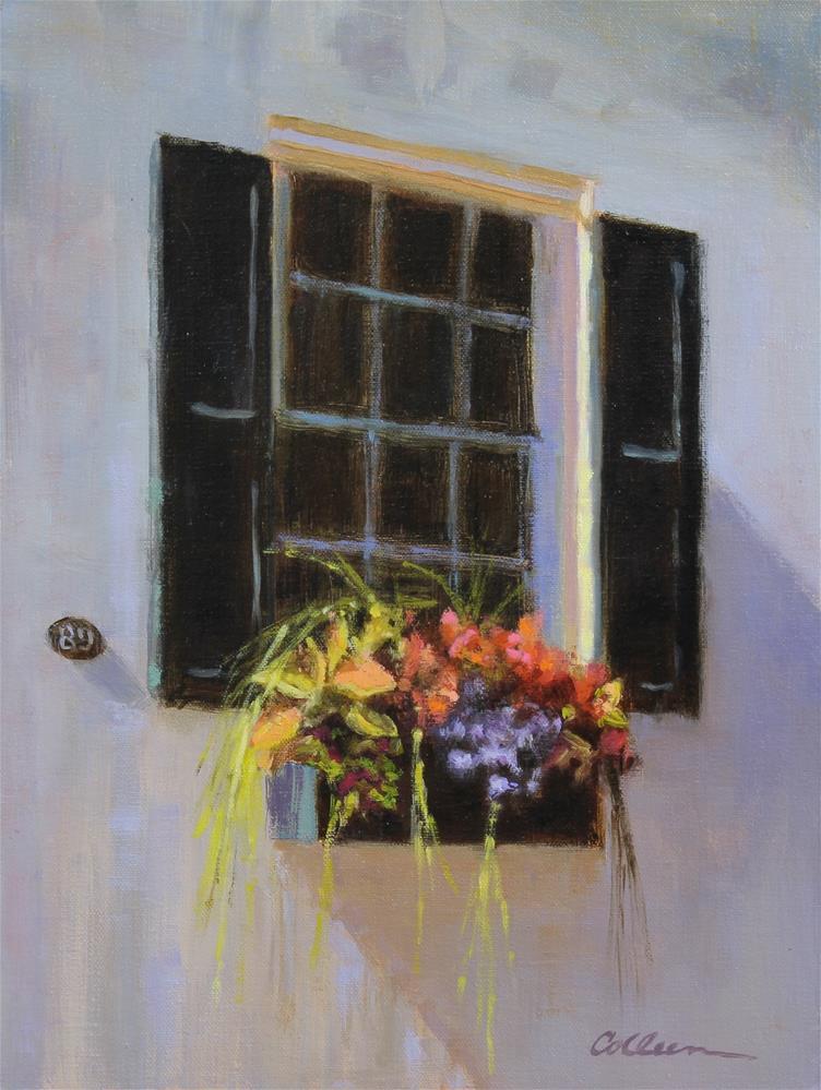 """A Charleston Window Box"" original fine art by Colleen Parker"