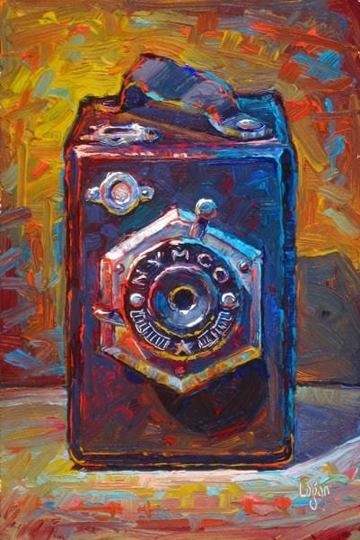 """Little NYMCO Box Camera"" original fine art by Raymond Logan"