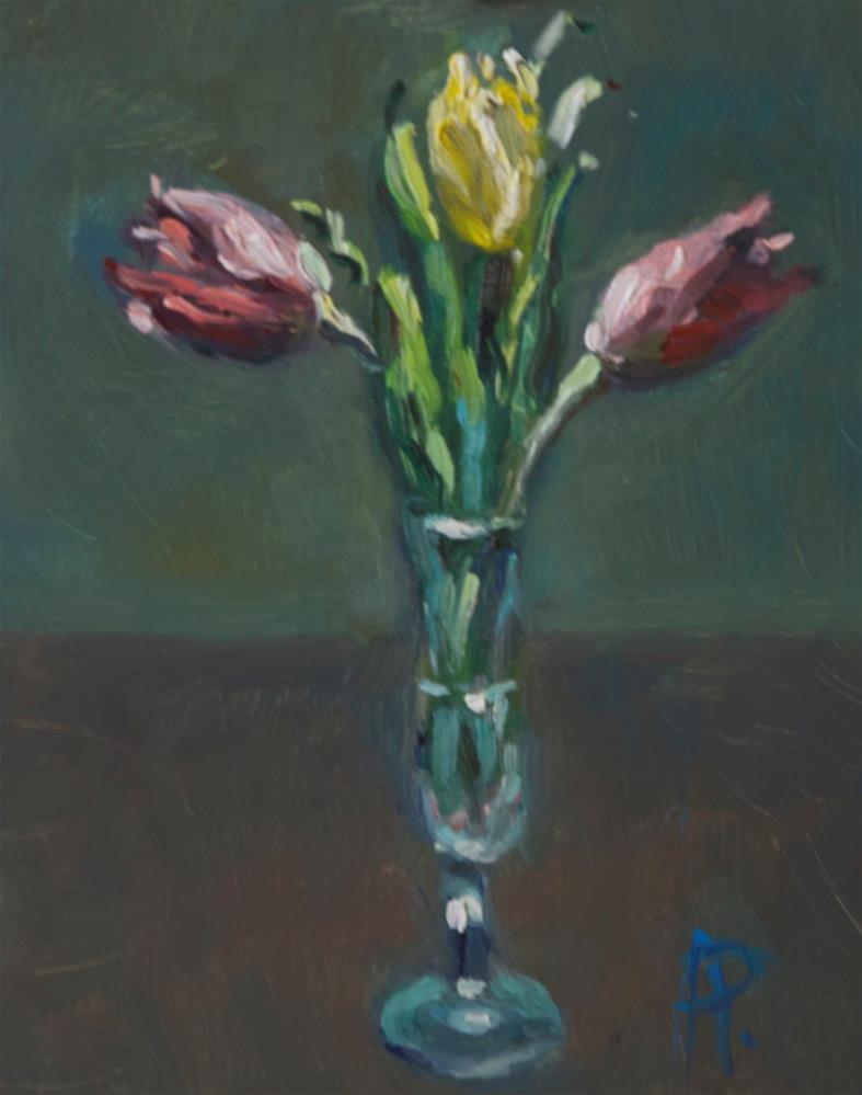 """'Three Tulips'"" original fine art by Andre Pallat"