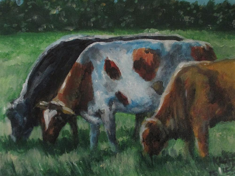 """Between the Bull"" original fine art by Kate Less-Madsen"
