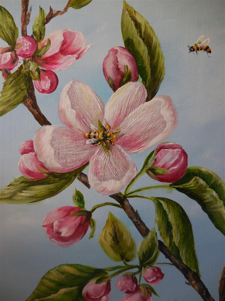 """Blossom Time"" original fine art by Terri Nicholson"