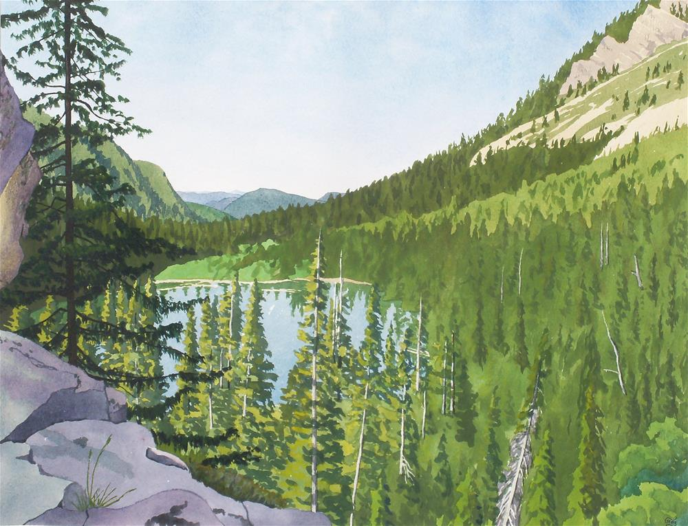 """Lower Snyder Lake"" original fine art by Greg Arens"