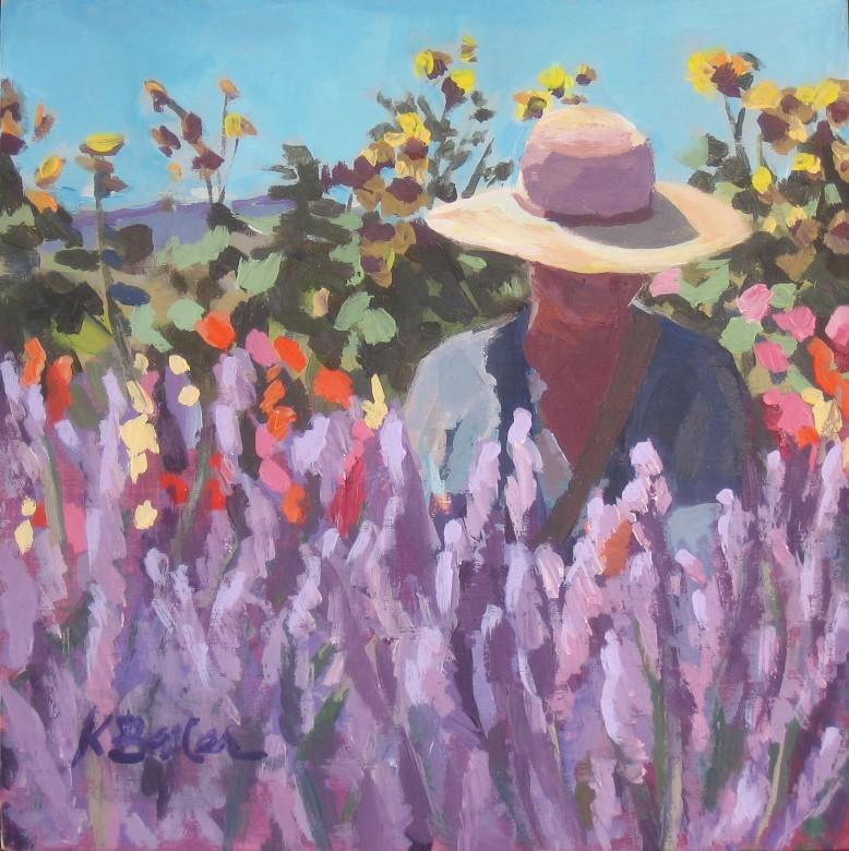 """In Lavender"" original fine art by Kaethe Bealer"