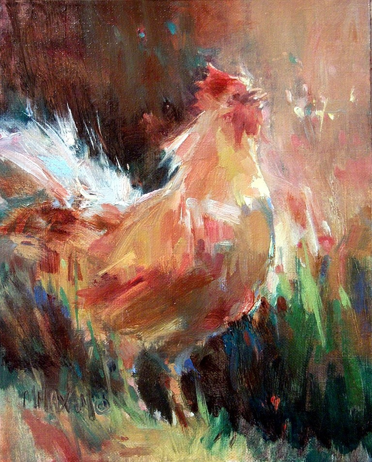 """Welcoming Morning"" original fine art by Mary Maxam"