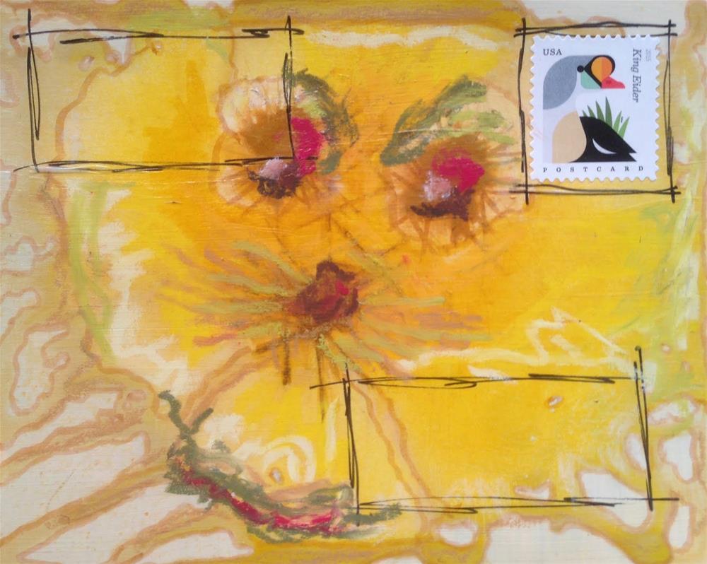 """""""Postcard 11"""" original fine art by Dotty  Seiter"""