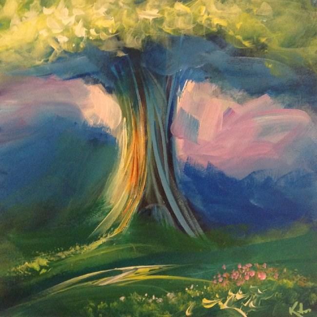 """Around the Way"" original fine art by David Kuhn"