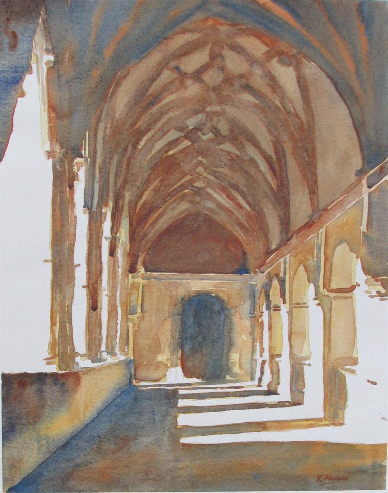 """Monasterio de San Millan"" original fine art by Yolanda Moreno"